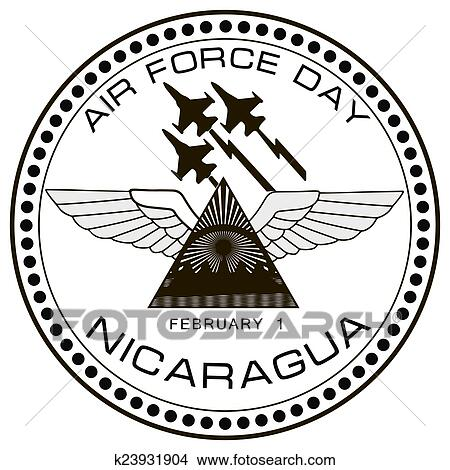 Drawing   Air Force Day Nicaragua. Fotosearch   Search Clip Art  Illustrations, Wall Posters