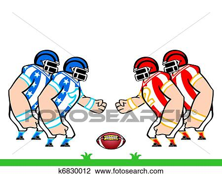clipart of american football teams k6830012 search clip art rh fotosearch com football team clip art pictures football team logo clipart