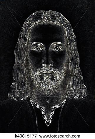 Arte Grafica Desenho Rosto De Jesus Cristo Computador