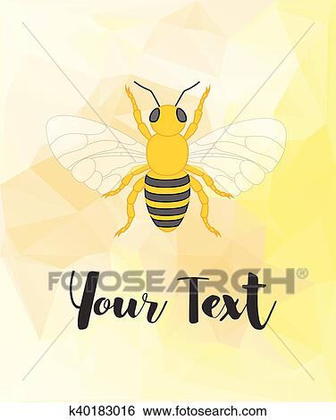 clip art of bee template k40183016 search clipart illustration
