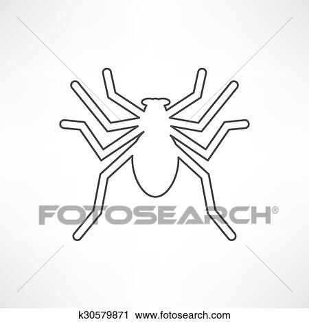 Clipart Of Spider Icon K30579871