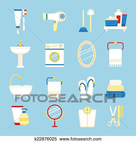 Clipart Of Bathroom Icon Set K48 Search Clip Art Unique Bathroom Clipart Set