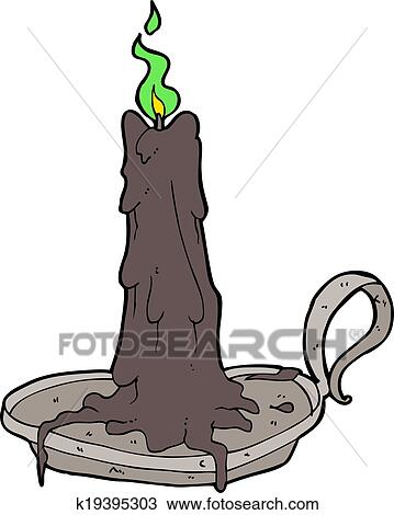 clipart of cartoon spooky dribbling candle k19395303 search clip rh fotosearch com Black Cat Clip Art Black Cat Clip Art