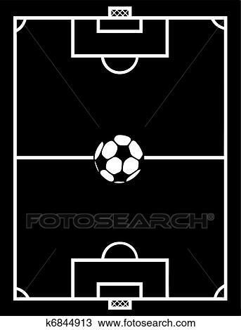 Fussball Feld Clipart K6844913 Fotosearch
