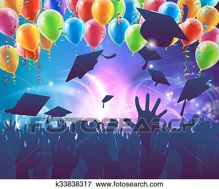 Clip Art Of Graduation Celebration Party K33838317