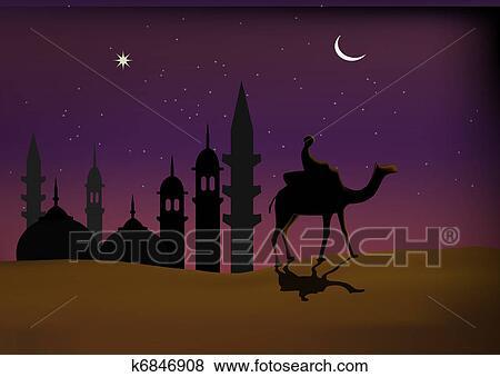 Stock Illustration of Islamic wallpaper k6846908 Search EPS Clip