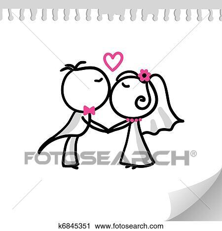 Clipart - coppia matrimonio k6845351 - Cerca Clipart ...