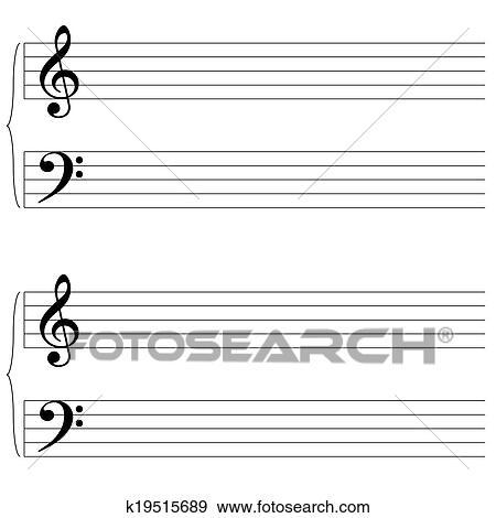 Colección de ilustraciones - música hoja k19515689 - Buscar Vectores ...