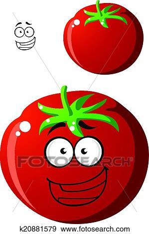 Clipart m re rouges dessin anim tomate k20881579 recherchez des cliparts des - Tomate dessin ...