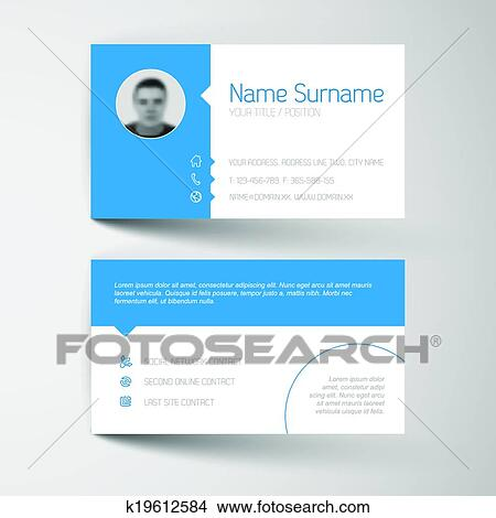 Clipart of modern business card template with flat user interface clipart modern business card template with flat user interface fotosearch search clip art wajeb Image collections