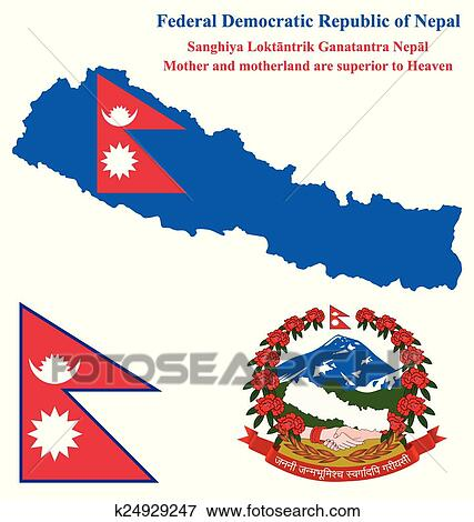 Clip Art of Nepal Flag k24929247 - Search Clipart, Illustration ...
