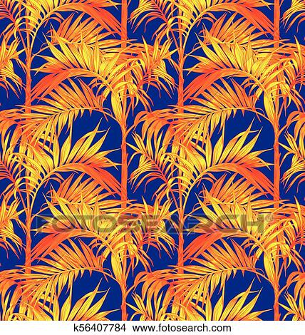 Palm Seamless Pattern Tropical Leaves Backgrounds Clipart K56407784 Fotosearch Download 4,096 tropical leaves free vectors. fotosearch