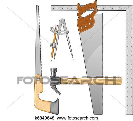 Ongekend Timmerman, gereedschap, logo Clipart | k6849648 | Fotosearch CZ-74