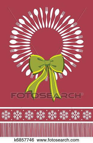 besteck kranz weihnachten hintergrund clip art. Black Bedroom Furniture Sets. Home Design Ideas