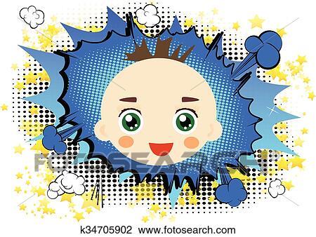 Baby Mädchen Clipart Baby Gesicht Clipart glückliches Baby   Etsy