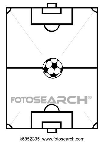 Fussball Feld Clipart K6852395 Fotosearch