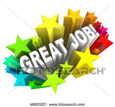clipart of great job words praising a successful goal accomplished rh fotosearch com good job clipart png good job clip art images