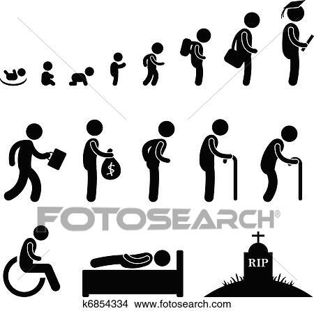 Clipart menselijk leven baby kind student oud k6854334 zoek clipart illustratie fresno 39 s - Kind oud ...
