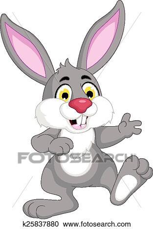 Mignon lapin dessin anim clipart k25837880 fotosearch - Dessin lapin mignon ...