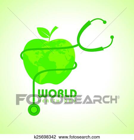 Clipart Of Creative World Health Day Greeting K25698342