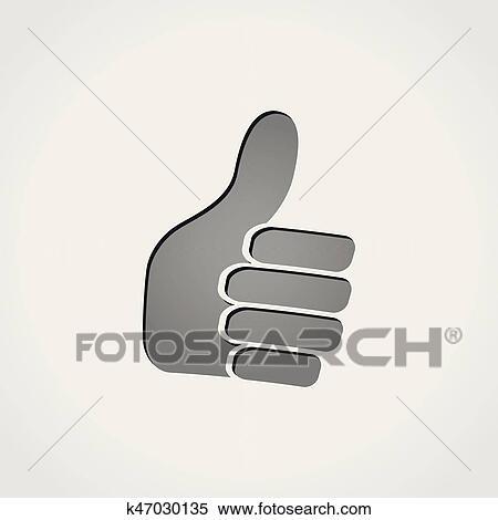 44846782cafaca Clipart - duim boven, pictogram. Fotosearch