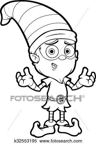 6 Santa Illustrations - Black and White - The Graphics Fairy
