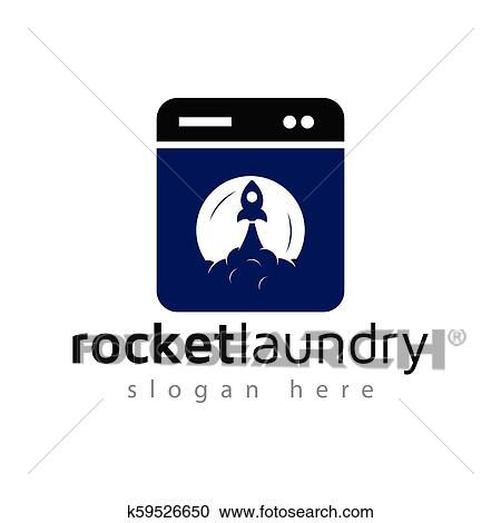 rocket washer laundry logo vector element laundry logo template clipart k59526650 fotosearch fotosearch