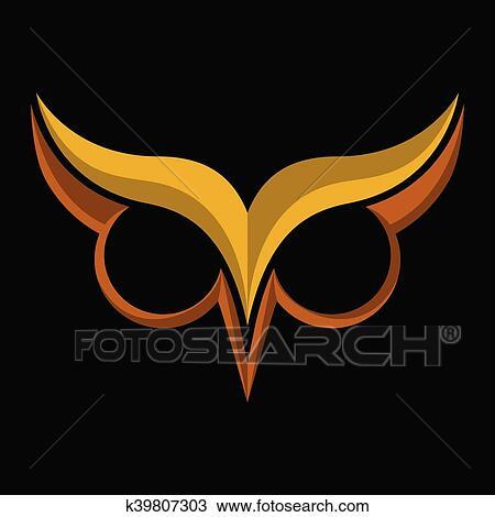 Clipart Buho Pajaro Logotipo Con Ojos Grandes Y Ojo