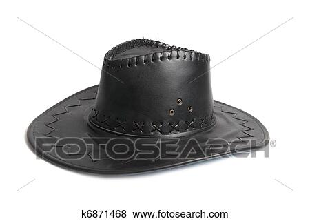 4f677cf434d9e Pictures of Black leather cowboy s hat k6871468 - Search Stock ...
