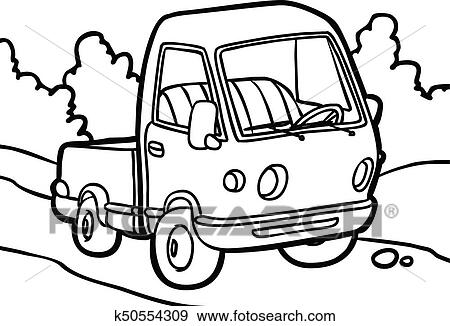 Cartoon Image Of A Small Truck Clip Art