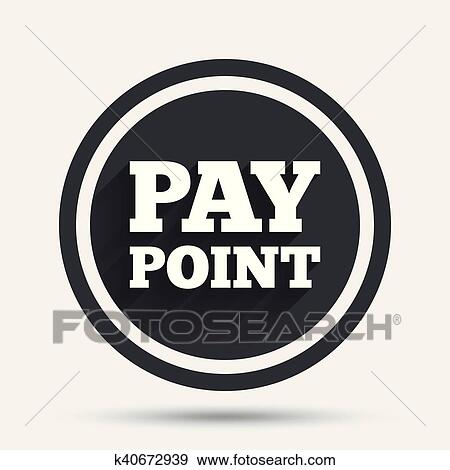 Cash and coin sign icon  Pay point symbol  Clip Art