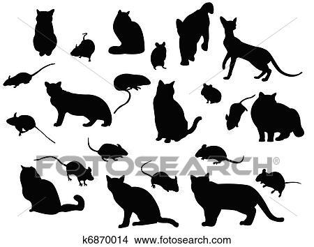 Klipart Kot I Mysz K6870014 Szukaj Cliparty Ilustracje Murali
