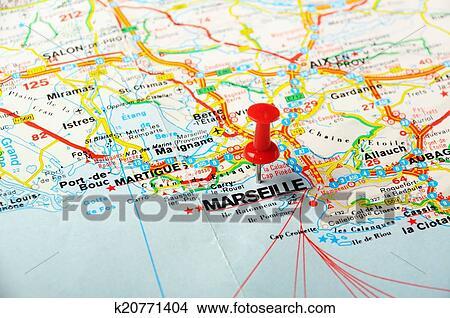Marsella Francia Mapa Foto K20771404 Fotosearch