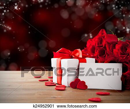 Stock Photography Of Valentine Gift With Roses K24952901 Search