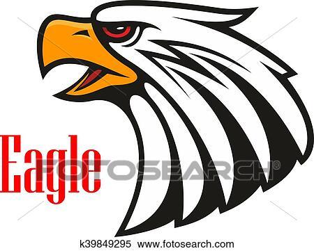 Clipart - águila calva, crying., vector, emblema k39849295 - Buscar ...