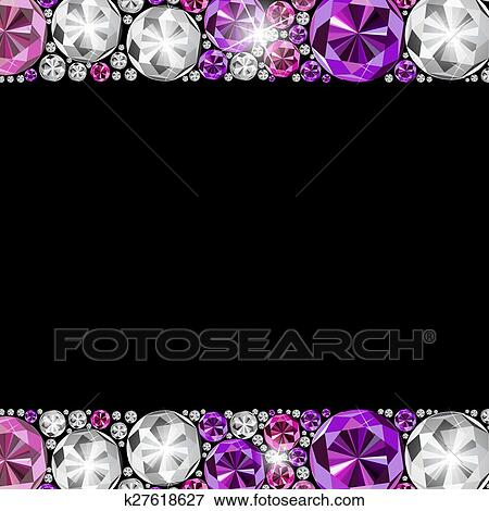 Abstract Luxury Black Diamond Background Vector Illustration Clip Art