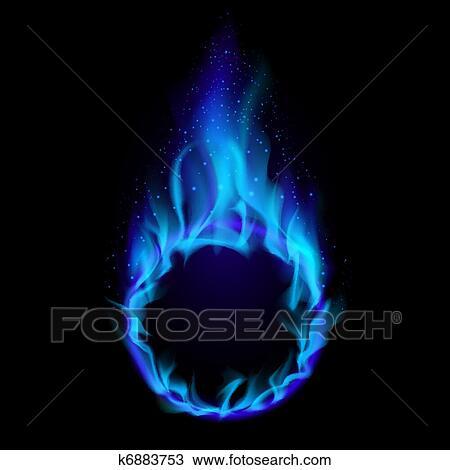 Anello Blu Di Fuoco Clipart K6883753 Fotosearch