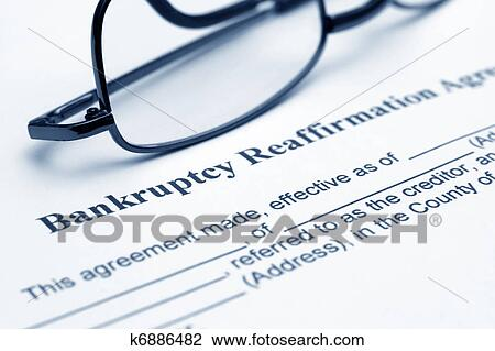 Stock Photo Of Bankruptcy Reaffirmation Agreement K6886482 Search