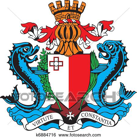 clip art of coat of arms of malta k6884716 search clipart rh fotosearch com ghana coat of arms clipart coat of arms mantle clipart