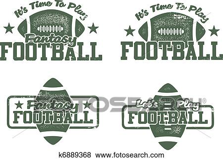 Clip Art of American Football & Fantasy stamps k6889368 ...