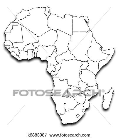 Stock Illustration Of Map Of Africa K6883987 Search Eps Clipart
