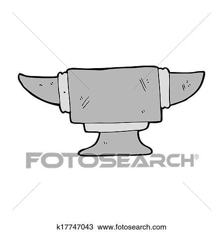 Cartoon blacksmith anvil Drawing