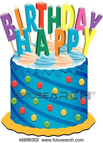 Clipart Geburtstagskuchen K6896302 Suche Clip Art Illustration