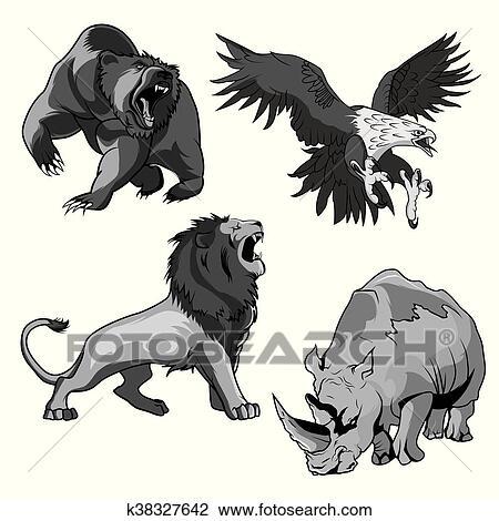 Jardim Zoologico Rinoceronte Falcao Urso Pardo E Savannah