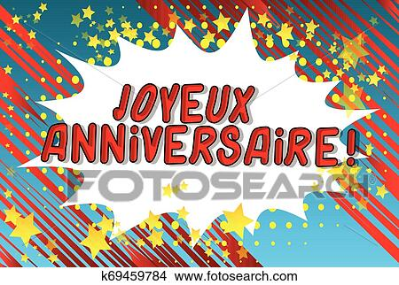 Joyeux Anniversaire Happy Birthday In French Clipart K69459784 Fotosearch