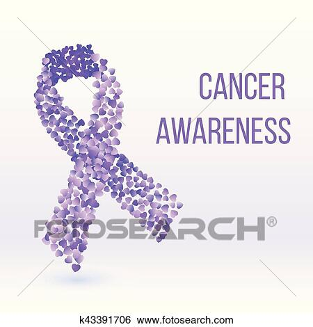 Purple Ribbon Cancer Awareness Symbol Clip Art K43391706 Fotosearch