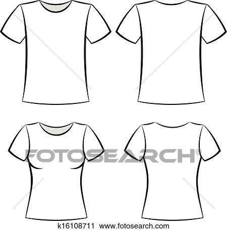 Clipart - t-shirt, schablone k16108711 - Suche Clip Art ...