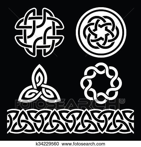 Stock Illustrations Of Celtic Irish Patterns And Knots K60 Beauteous Irish Patterns
