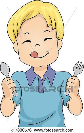 clip art of hungry boy k17830576 search clipart illustration rh fotosearch com hungary clip art hungary clip art