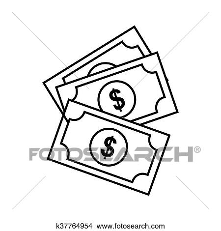 Clipart Of Pile Of Cash Vector K37764954
